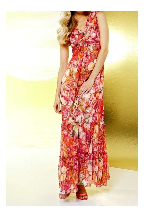 Ilga gėlėta suknelė