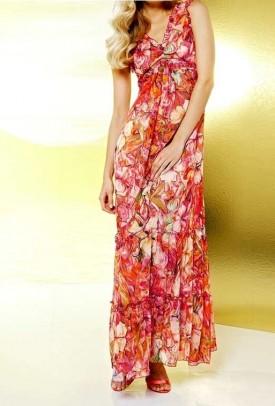 Ilga gėlėta suknelė. Liko 34 dydis