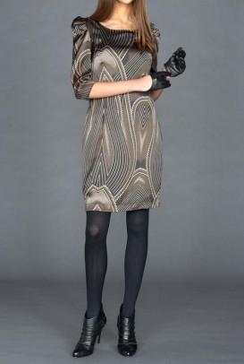 Puošni pilka suknelė