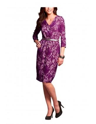 Stilinga violetinė suknelė