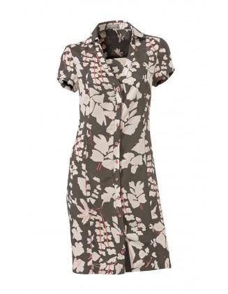 Chaki suknelė su sagutėmis
