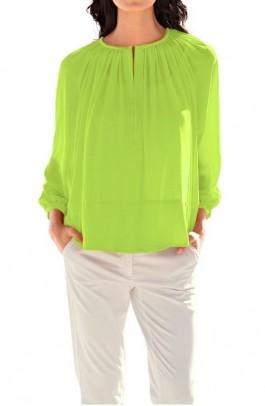 Chiffon blouse, lime