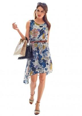 Romantiška mėlyna suknelė