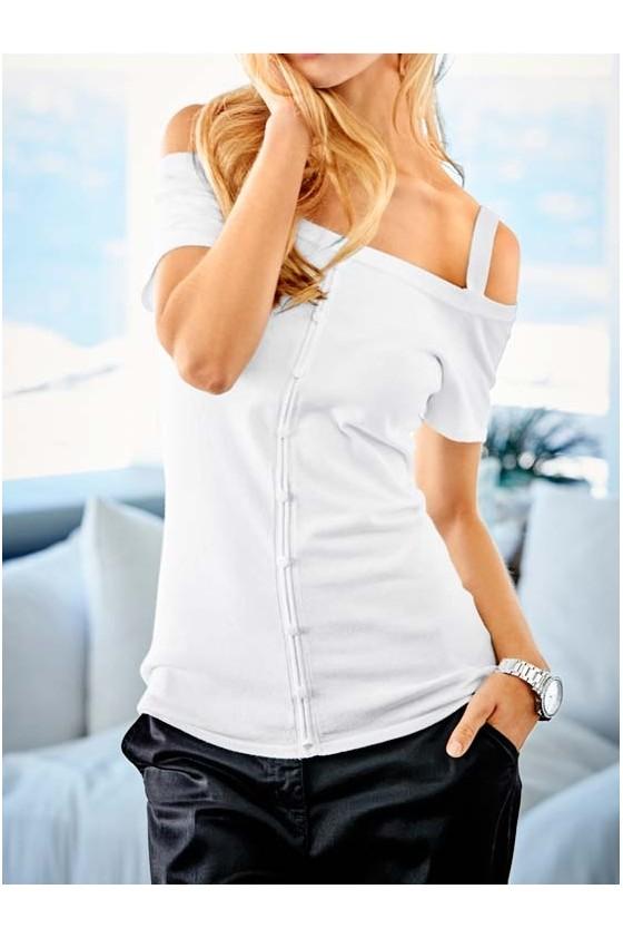 Square shirt, white