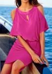 Rožinė paplūdimio suknelė