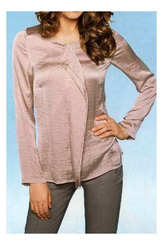 Satin blouse, mauve