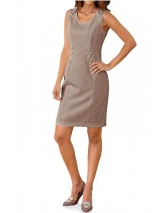 Pastelinė suknelė be rankovių