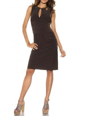 Tamsiai ruda elegantiška suknelė