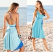 Reversible dress, blue-turquoise