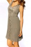 Rafinuota rusva suknelė