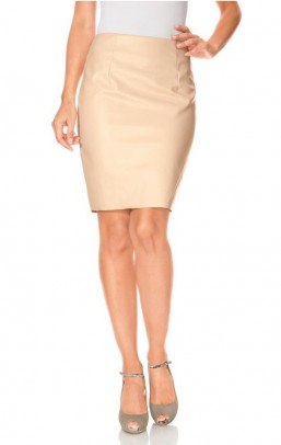 Faux leather skirt, apricot