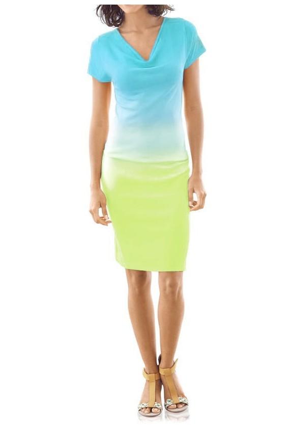 Pastelinių spalvų vasarinė suknelė
