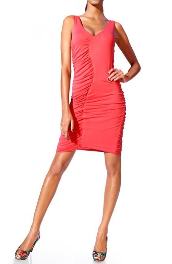 Shapewear dress, coral