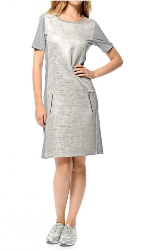 Pilka - sidabrinė suknelė