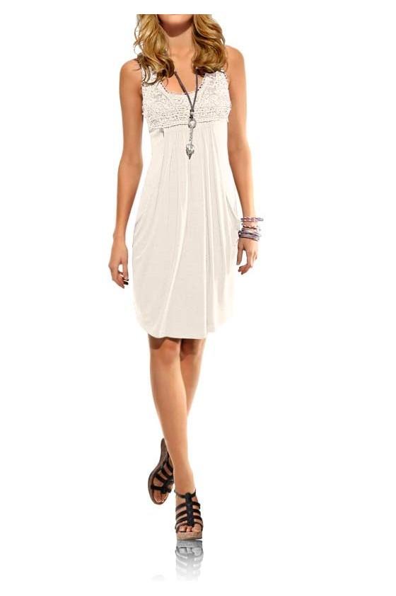 Šviesi laisvalaikio suknelė