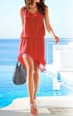 Raudona vasarinė suknelė