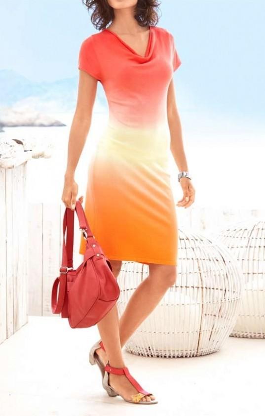 Oranžinė suknelė