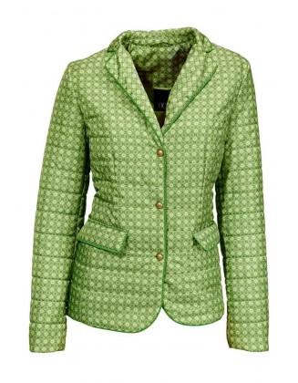 Dygsniuotas žalias švarkas