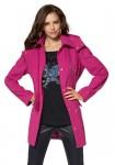 Ryškus vilnonis paltas