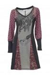 Marga suknelė su ornamentais