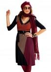 Originali rudens spalvų suknelė