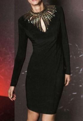 Dekoruota kokteilinė suknelė