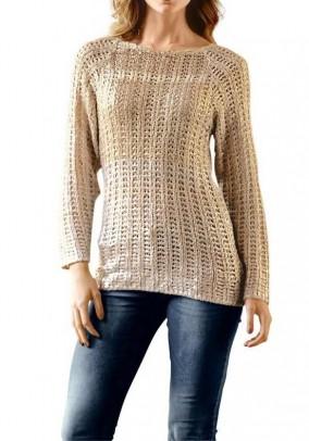 Sweatshirt, apricot metalic