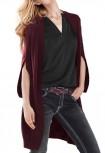 Ilgas bordo megztinis