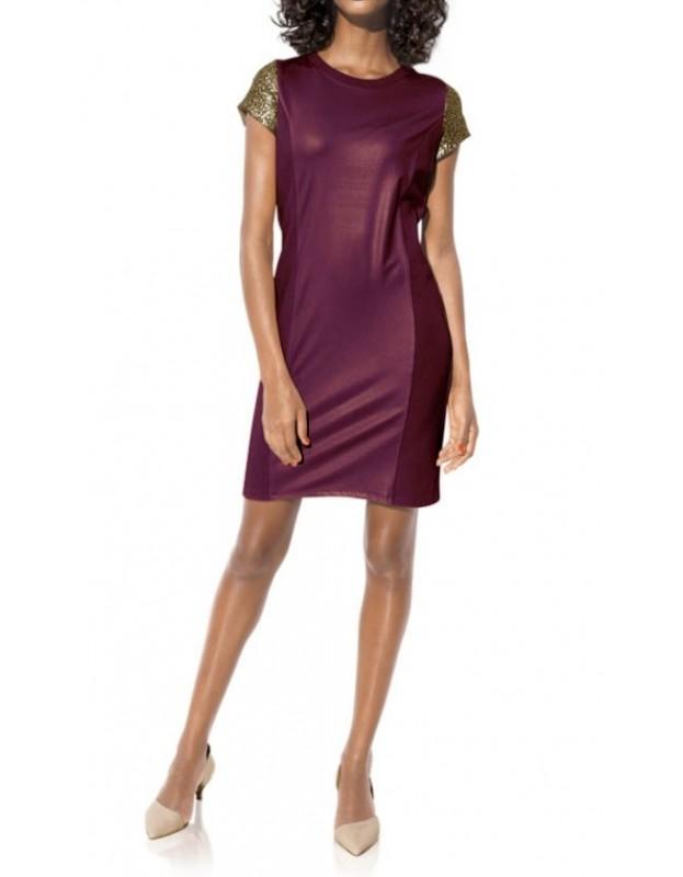 Kokteilinė bordo suknelė