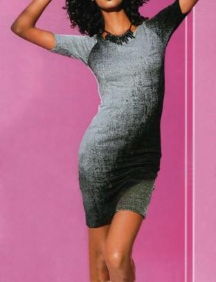 Subtili pilka suknelė