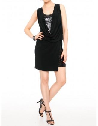 Puošni kokteilinė suknelė