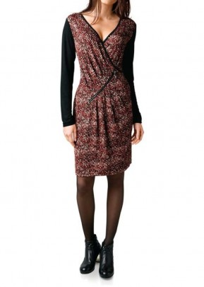 Print dress, red-multicolour