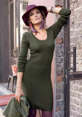 Megzta chaki suknelė