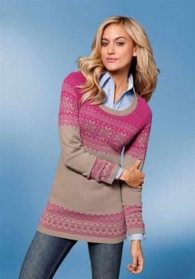 Sweatshirt, beige-pink