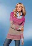 Rausvas romantiškas megztinis