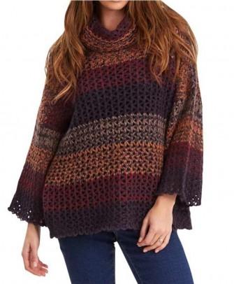 Sweatshirt, purple-multicolour