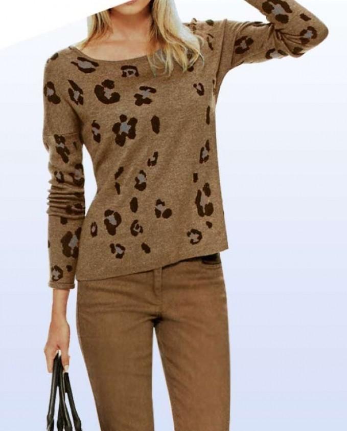 "Megztinis su vilna ""Leopard"". Liko 38 dydis"