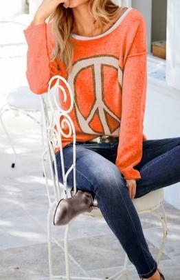 Ryškus laisvalaikio megztinis