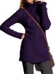 Violetinis megztinis su vilna