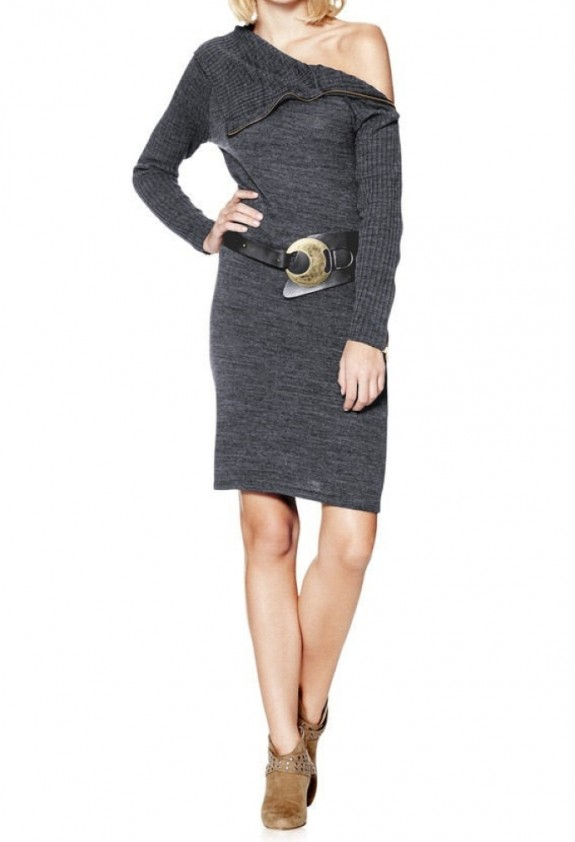 Pilka elegantiška suknelė