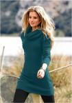 Megzta suknelė - tunika su nuimama apykakle
