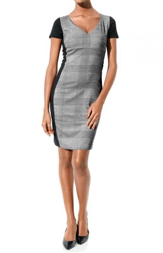 Klasikinė pilka suknelė