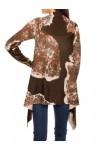 Cardigan, terracotta-brown
