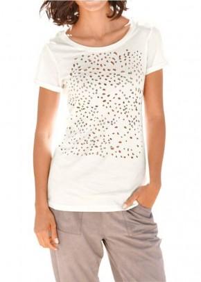 Dekoruoti balti marškinėliai