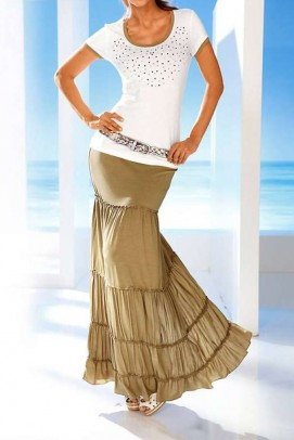 Maxi skirt, sand