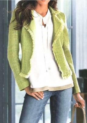 Blazer, green-beige