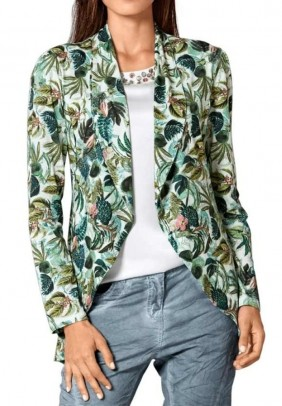 Jersey jacket, green-multicolour