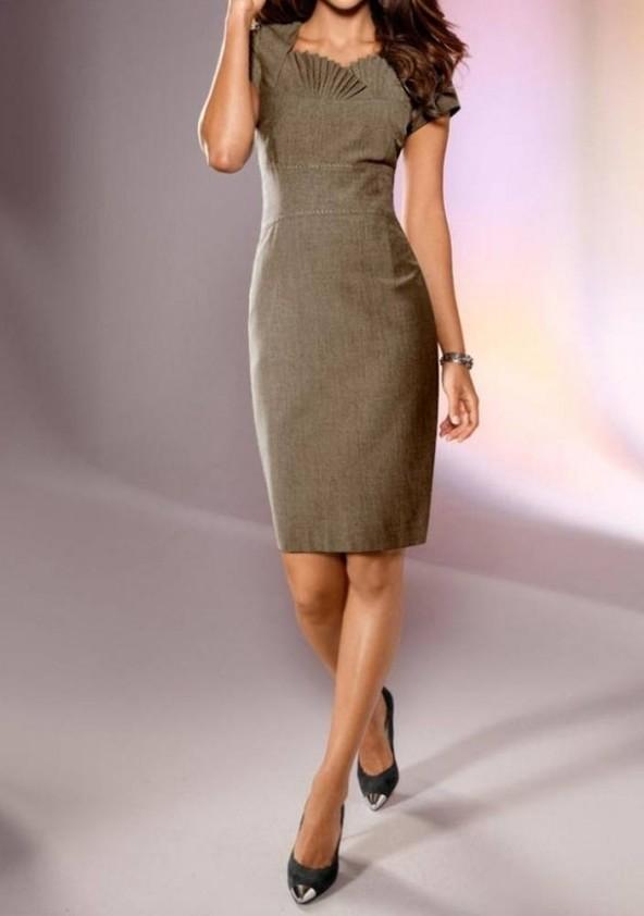 Sheath dress, taupe