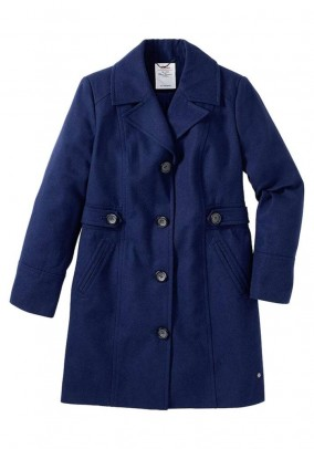 Lable short coat, blue