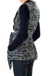 Tamsiai mėlynas megztinis – švarkas